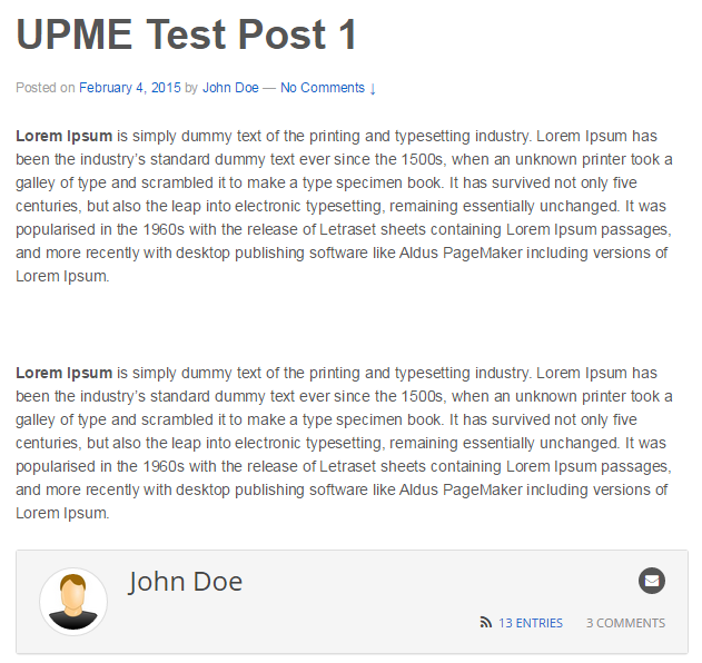 Template For Post Author Profiles